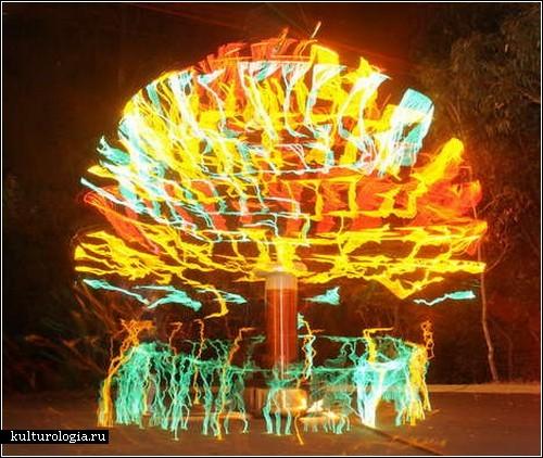 Новогодняя елка из катушек Тесла