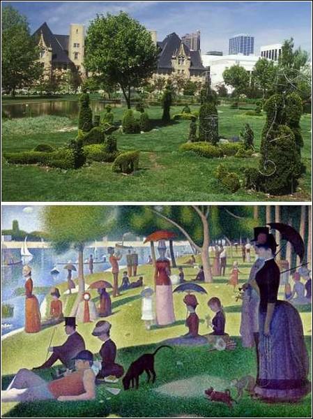 Сад топиари - сюжет известной картины