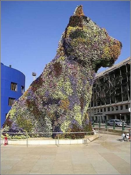 Цветочный щенок из Испании