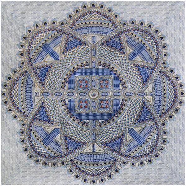 Коллажи напоминают тканые ковры