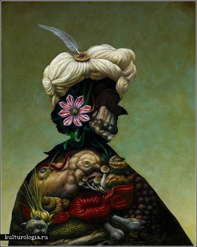 Абстрактные и гротескные картины Кристиана ван Миннена