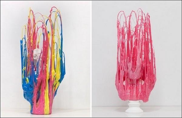 Застывшая пластмасса в скульптурах Ника ван Воерта
