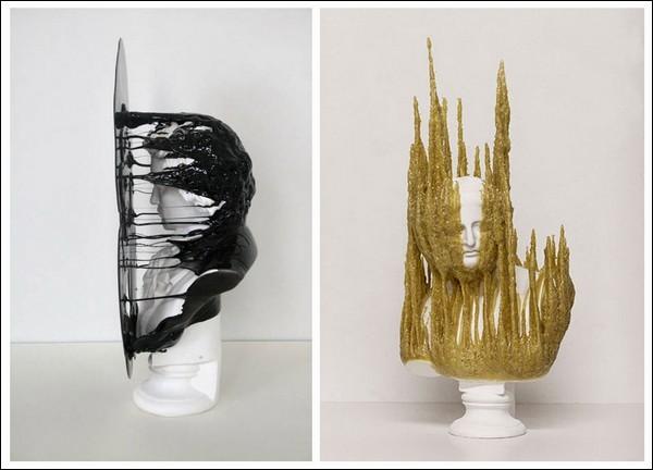 Основа многих скульптур - гипсовые бюсты