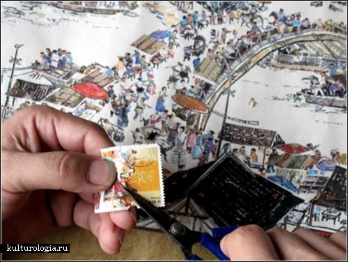 Картины из почтовых марок