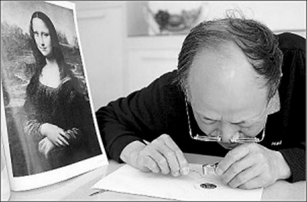 Портреты из человеческих волос от Zhang Dexuan
