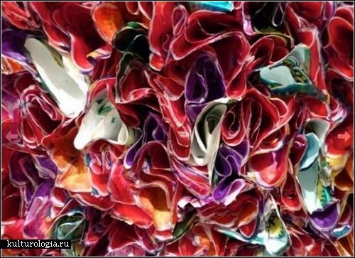 Картины из бумажных цветов от Чжуана Хёна И