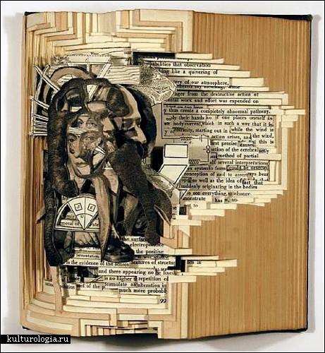 Резьба по книгам. Book carving от Брайана Деттмера (Brian Dettmer)