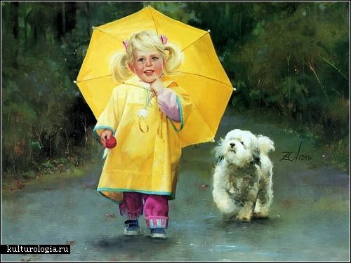 Счастливое и беззаботное детство на картинах Дональда Золана (Donald Zolan)
