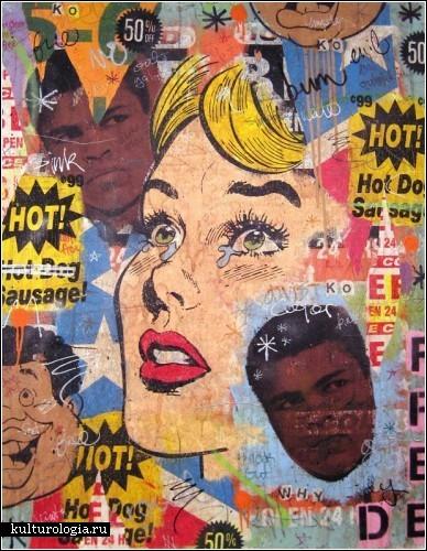 Многоуровневые картины в стиле ретро. Художества американского автора Грега Госсела (Greg Gossel)