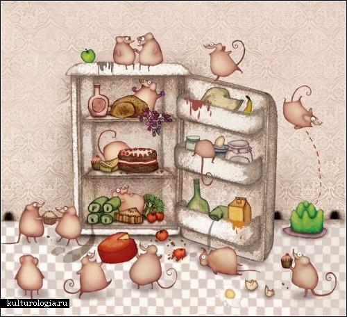 Кошки, мышки и остальной позитив в картинах Лизы Эванс (Lisa Evans)