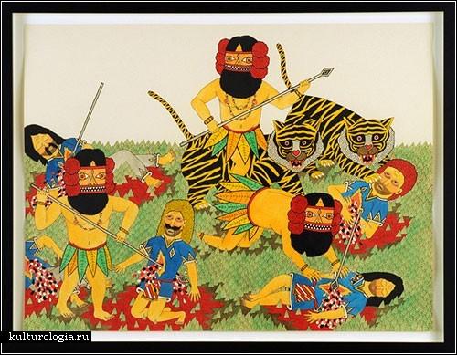 Разноцветные и усатые воины с картин Мэтта Лейнса (Matt Leines)