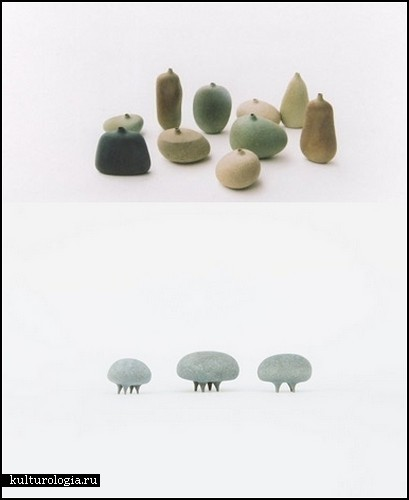Каменные мини-скульптурки Мицуру Кога (Mitsuru Koga)