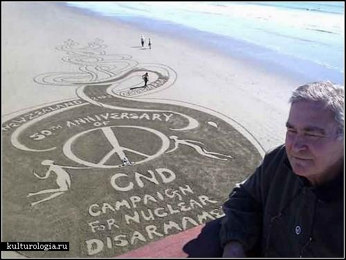 Картины на песке. Художества новозеландского автора Питера Доннелли (Peter Donnelly)