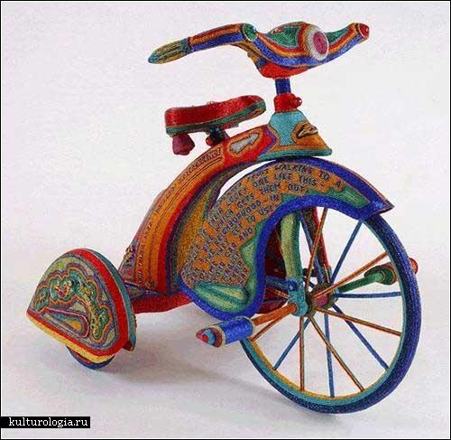 велосипед из бисера. бисерные вещи.