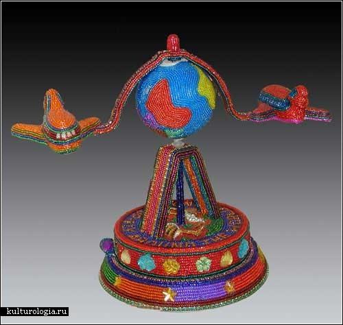 Оригинальные скульптуры из бисера. Работы Кэти и Томаса Вегман (Kathy&Tom Wegman)