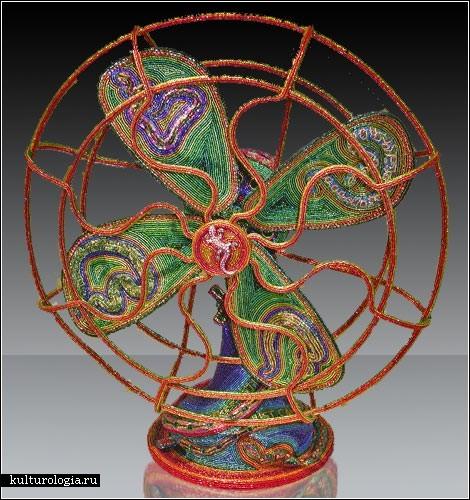 Семейное творчество Кэти и Томаса Вегман (Kathy&Tom Wegman) - скульптуры из бисера.