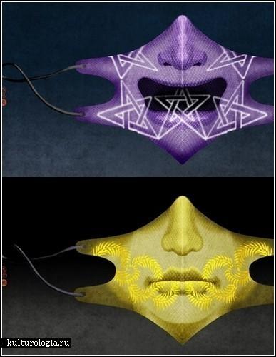 Расписные хирургические маски Yoriko Yoshida