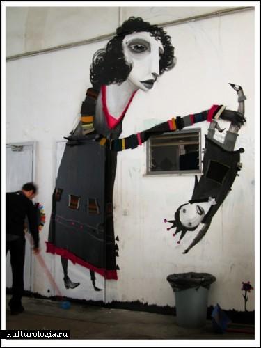 Настенное творчество Александроса Васмулакиса (Alexandros Vasmoulakis) на улицах Афин