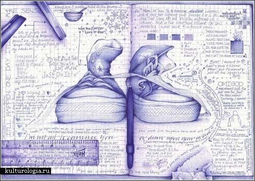 *Хламография* от Андреа Джозеф (Andrea Joseph). Рисунки чего угодно и на чем угодно