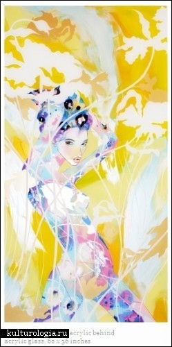 Картины на стекле от Аннабель Верхойе (Annabelle Verhoye)