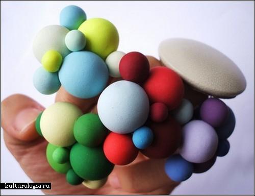Кольца-атомы Atomium rings из полимерной глины