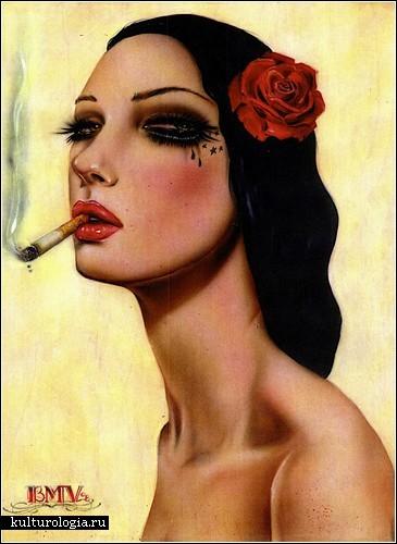 фото курящие девушки секс: