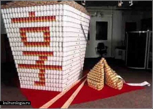 Фестиваль консервных банок Canstruction. Необычные скульптуры в Нью-Джерси