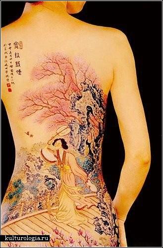 Эротический боди-арт китайского художника Seyi Wujian