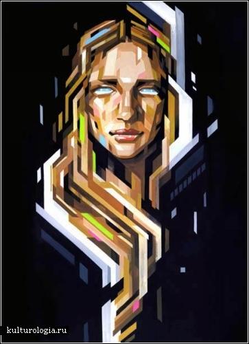*Прямолинейные* картины японского художника Tadaomi Shibuya