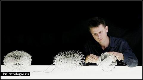 Glass microbiology. Стеклянные скульптуры-вирусы