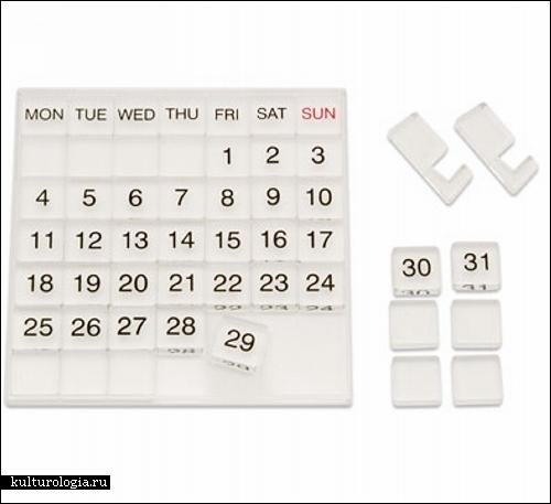 Десятка необычных календарей. Обзор