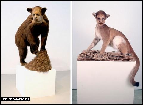 Люди-животные. Скульптуры-инсталляции Кейт Кларк (Kate Clark)