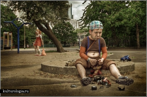 Фотопроект Kidults. Детско-взрослые персонажи Марчина Цецко (Marcin Cecko).