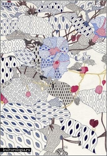 Рисунки цветными ручками японского художника Косуке Икеды (Kosuke Ikeda)