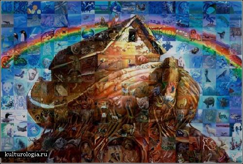 Картины из картин. Фантастические мозаики Льюиса Лаво (Lewis Lavoie)