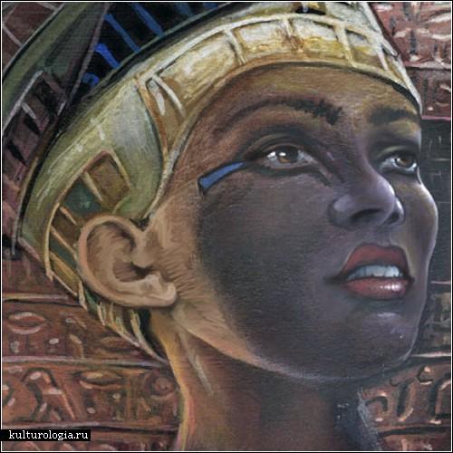 "Схема вышивки  ""Нефертити "": таблица цветов."