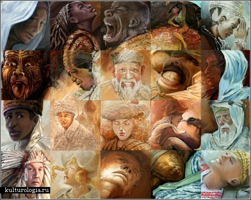 Самая первая работа под названием *Адам*. Фантастические мозаики Льюиса Лаво (Lewis Lavoie)