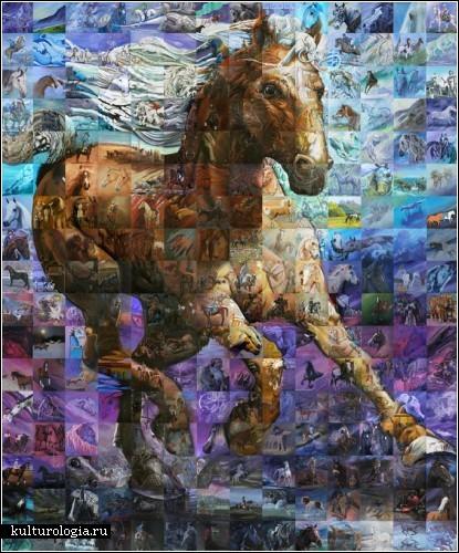 картины из мозаики:
