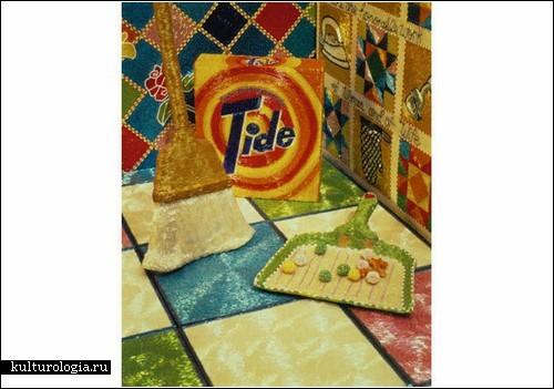 Кухня мечты, сплетенная из бисера.  Инсталляция Лизы Лу (Lisa Lou) .