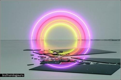 Неоновый свет фантастических инсталляций Лори Херсбергера (Lori Hersberger)