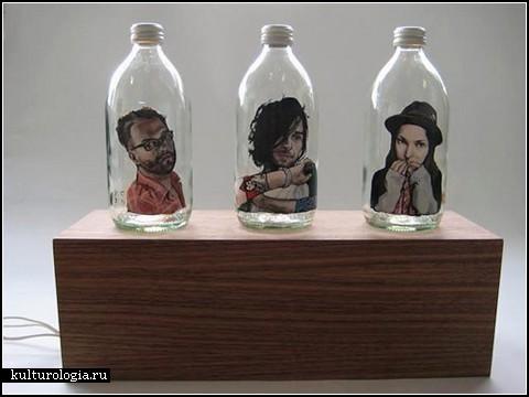Бутылочный арт Мэганн Патерсон (Meghan Paterson)