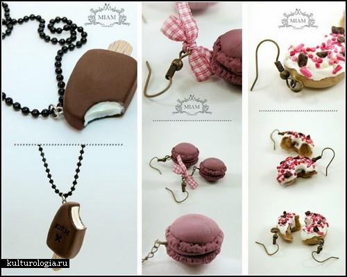 *Сладкие* украшения из полимерной глины Miam Jewelry