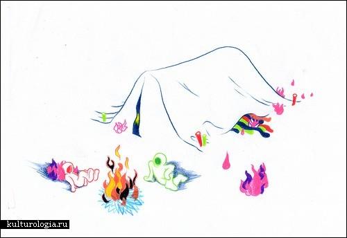 Дети картинки нарисованные цветные