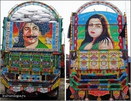 Пакистанские грузовики - расписные короли дорог