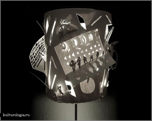 Бумажные абажуры лондонского дизайнера Yu Jordy Fu