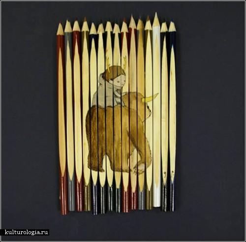 Рисунки на карандашах. Автор - художник GhostPartol из Австралии