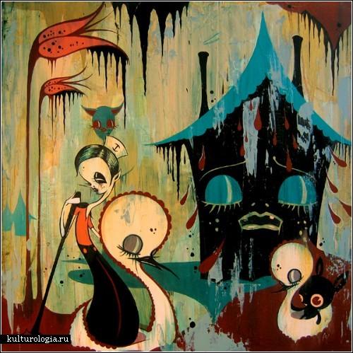 Психоделическая живопись Камиль Розы Гарсиа (Camille Rose Garcia)