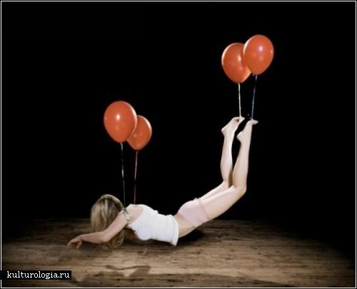 Парящие автопортреты фотохудожницы Сэм Тэйлор-Вуд (Sam Taylor-Wood)