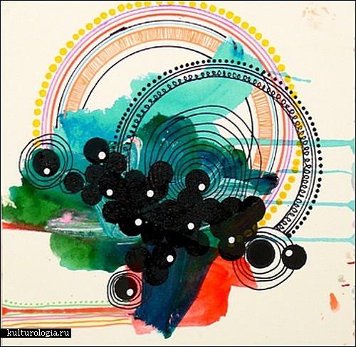 Эмоциональные и красочные абстракции Дженнифер Санчес (Jennifer Sanchez)