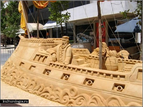 Скульптуры из песка. Потрясающий пляжный арт